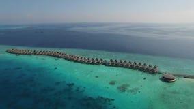 Vista superiore delle Maldive video d archivio