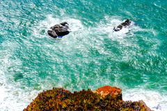 Vista superiore delle onde enormi dell'oceano Fotografia Stock