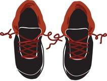 Vista superiore delle paia delle scarpe da tennis dei ragazzi - Fotografia Stock Libera da Diritti