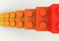 Vista superiore delle scale del blocchetto del giocattolo Immagine Stock