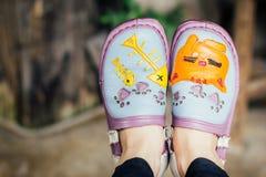 Vista superiore delle scarpe Fotografia Stock