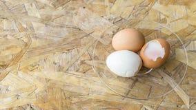 Vista superiore delle uova in ciotola Fotografie Stock