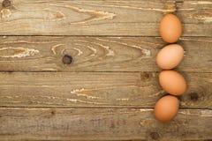 Vista superiore delle uova marroni Immagini Stock Libere da Diritti