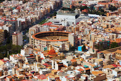 Vista superiore di Alicante con l'arena immagine stock libera da diritti