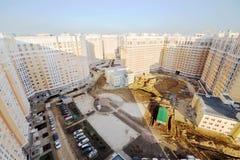 Vista superiore di alte costruzioni multipiano Immagine Stock Libera da Diritti