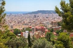 Vista superiore di Barcellona Fotografie Stock Libere da Diritti