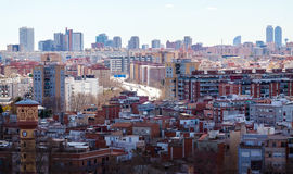 Vista superiore di Barcellona, Spagna Immagine Stock Libera da Diritti