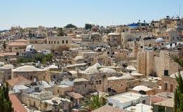 Vista superiore di Gerusalemme, Israele Fotografia Stock Libera da Diritti