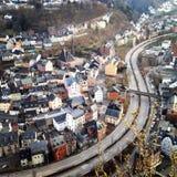 Vista superiore di Idar-Oberstein fotografie stock