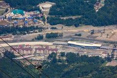 Vista superiore di Krasnaya Polyana, Soci, Russia. Fotografia Stock Libera da Diritti
