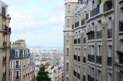 Vista superiore di Montmartre Immagini Stock