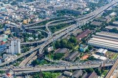 Vista superiore di paesaggio urbano di Bangkok fotografie stock libere da diritti