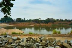Vista superiore di pakse, il Mekong nel Laos immagini stock