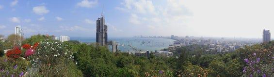 Vista superiore di Pattaya in Tailandia Fotografia Stock