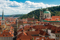 Vista superiore di Praga, repubblica Ceca Immagini Stock Libere da Diritti