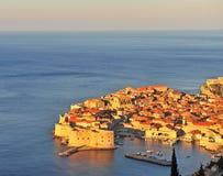 Vista superiore di Ragusa con una luce piacevole di mattina Immagini Stock Libere da Diritti