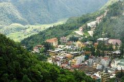 Vista superiore di Sapa, Vietnam Fotografia Stock Libera da Diritti