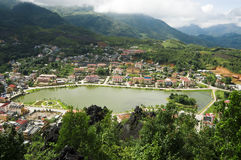 Vista superiore di Sapa, Vietnam Immagini Stock
