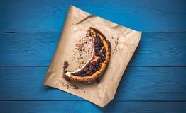 Vista superiore di torta di formaggio Immagini Stock Libere da Diritti