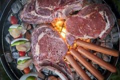 Vista superiore di un barbecue Fotografie Stock Libere da Diritti