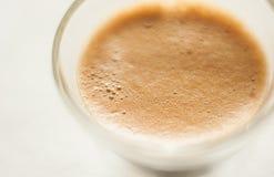 Vista superiore di un colpo di caffè espresso Fotografia Stock