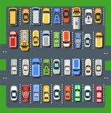 Vista superiore di un parcheggio della città Immagini Stock
