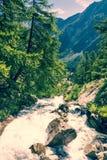 Vista superiore di una cascata Immagine Stock