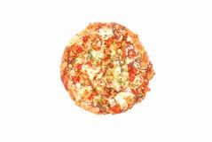Pizza del pollo di Tikka Immagine Stock
