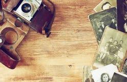 Vista superiore di vecchia macchina fotografica, fotografie dell'oggetto d'antiquariato Fotografie Stock Libere da Diritti