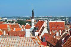 Vista superiore di vecchia Tallinn Immagini Stock Libere da Diritti