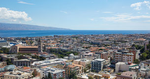 Vista superiore Messina Fotografie Stock