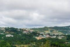 Vista superiore nella città Vietnam del dalat Immagini Stock