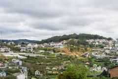 Vista superiore nella città Vietnam del dalat Fotografia Stock
