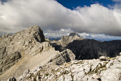 Vista superiore nelle alpi del calcare Fotografia Stock Libera da Diritti