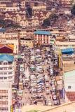 Vista superiore sul centro direzionale di Nairobi dalla piazzola di eliporto di Kenyatta International Conference Centre immagine stock