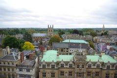 Vista superiore sulle case a Oxford fotografia stock libera da diritti