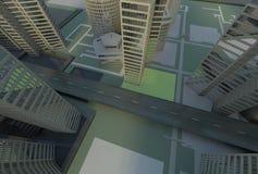vista superiore verde della città Immagine Stock Libera da Diritti