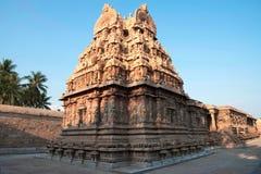 Vista suroriental de la capilla de Deivanayaki Amman, adyacente al templo de Airavatesvara, Darasuram, Tamil Nadu Imagen de archivo