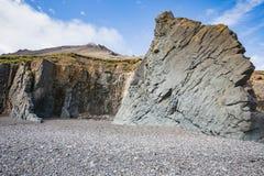 Vista surpreendente ao litoral fantástico de Islândia fotos de stock royalty free