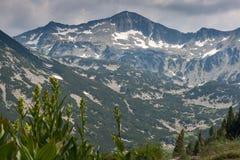 Vista surpreendente ao pico de Banski Suhodol, montanha de Pirin Imagens de Stock