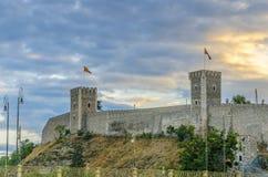 Vista surpreendente da citadela de pedra velha, Skopje, Macedônia imagens de stock