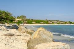 Vista surpreendente da praia do bebê na ilha de Aruba Fotografia de Stock