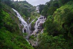 Vista surpreendente de cachoeiras do coração Imagens de Stock Royalty Free
