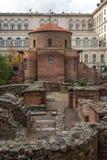 Vista surpreendente de St George Rotunda da igreja em Sófia, Bulgária Fotos de Stock