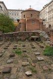 Vista surpreendente de St George Rotunda da igreja em Sófia, Bulgária Foto de Stock Royalty Free