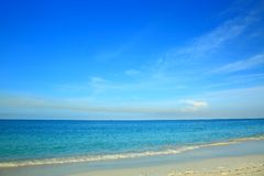 Vista surpreendente em Eagle Beach da ilha de Aruba caribbean fotos de stock