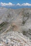 A vista surpreendente a Kutelo repica, montanha de Pirin Fotografia de Stock