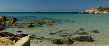 Vista surpreendente - praia de Chia Foto de Stock Royalty Free