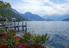 Vista svizzera del lago Fotografia Stock