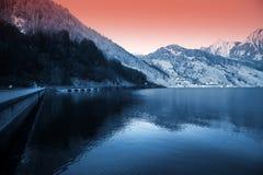 Vista svizzera del lago Fotografie Stock Libere da Diritti